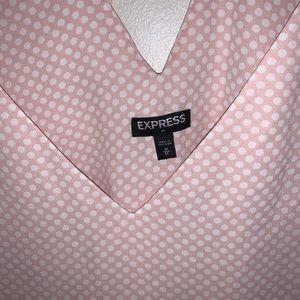 Express Tops - Express Pink Polka Dot Tank